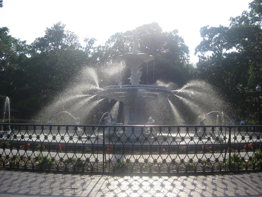 The fountain in Forsyth Park, Savannah
