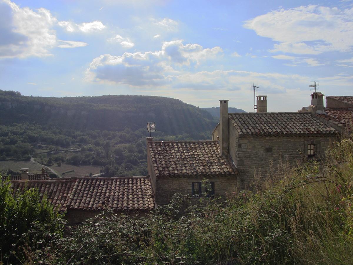 View of Saignon in the Luberon