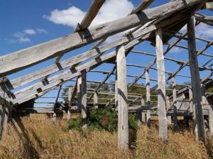 Abandoned structure, Isla Gable, Argentina