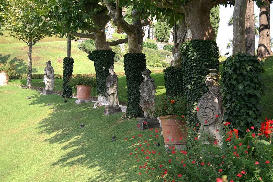 Villa del Balbianello Giardino, Lago di Como, Italia