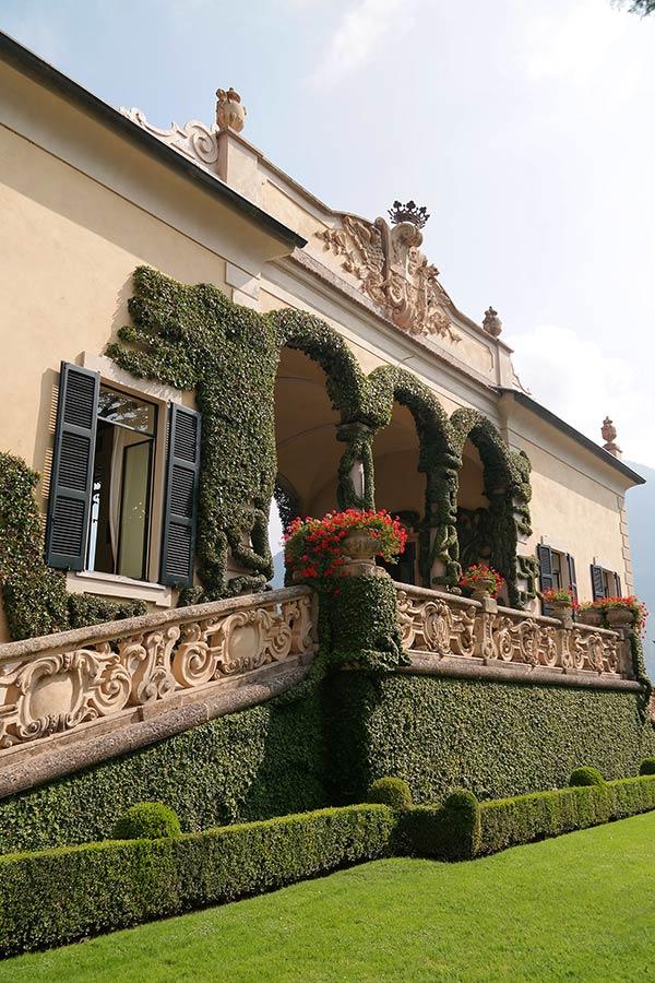 Loggia di Villa del Balbianello, Lago di Como, Italia