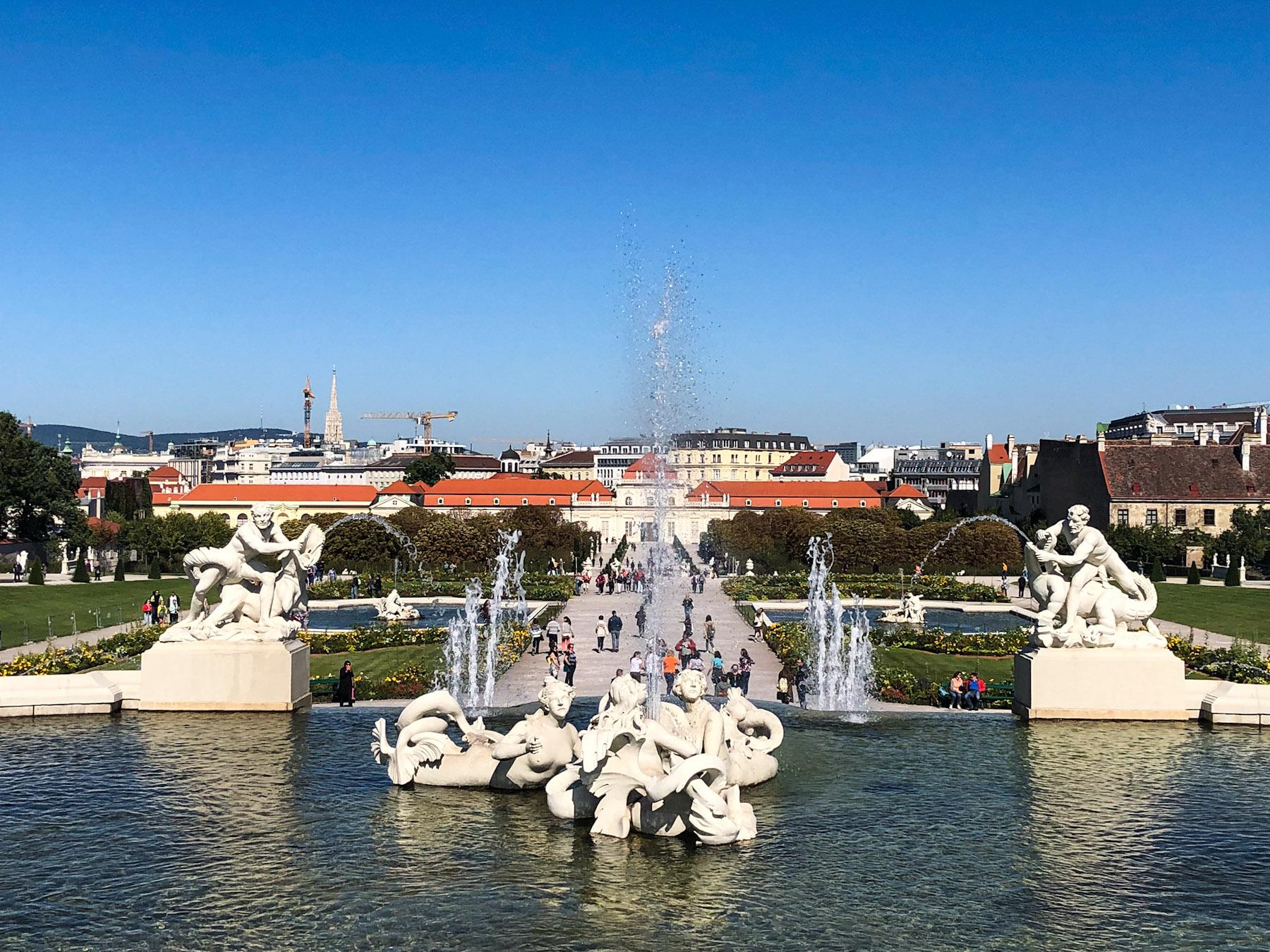 Belvedere Fountain, Belvederegarten, Vienna, Austria