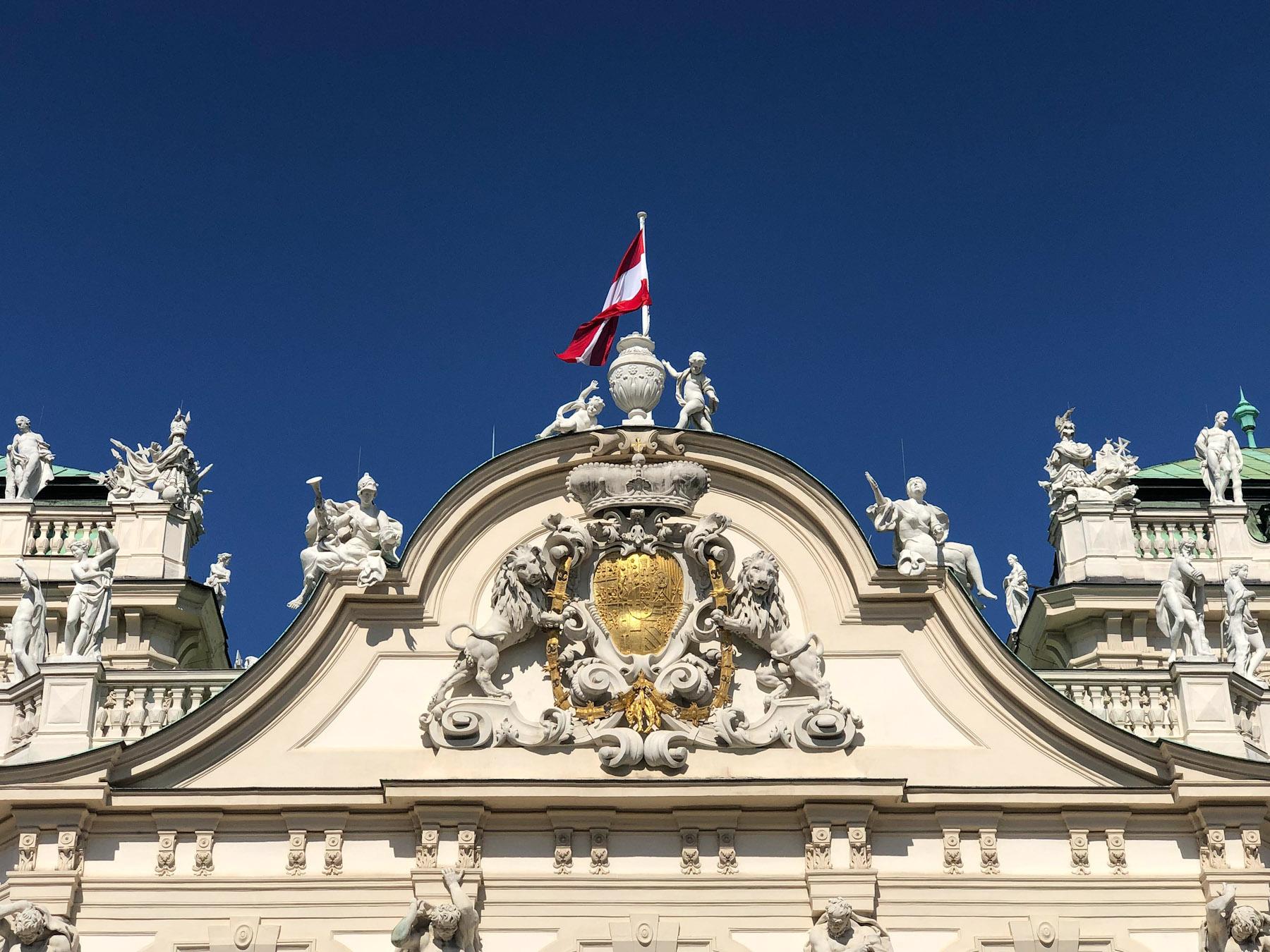 Upper Belvedere Roof, Vienna, Austria