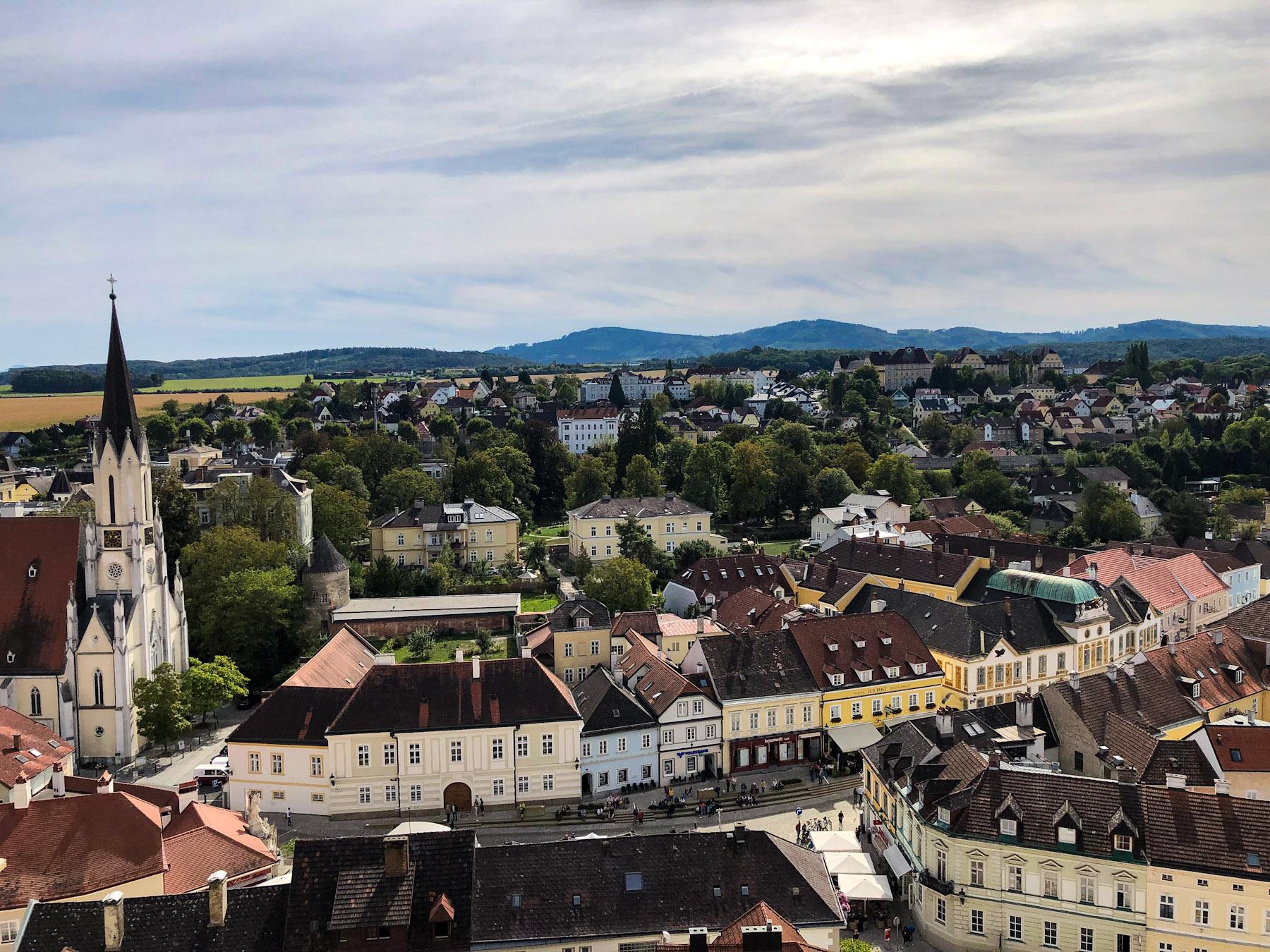 Hauptplatz in the Town of Melk, Wachau Valley, Austria