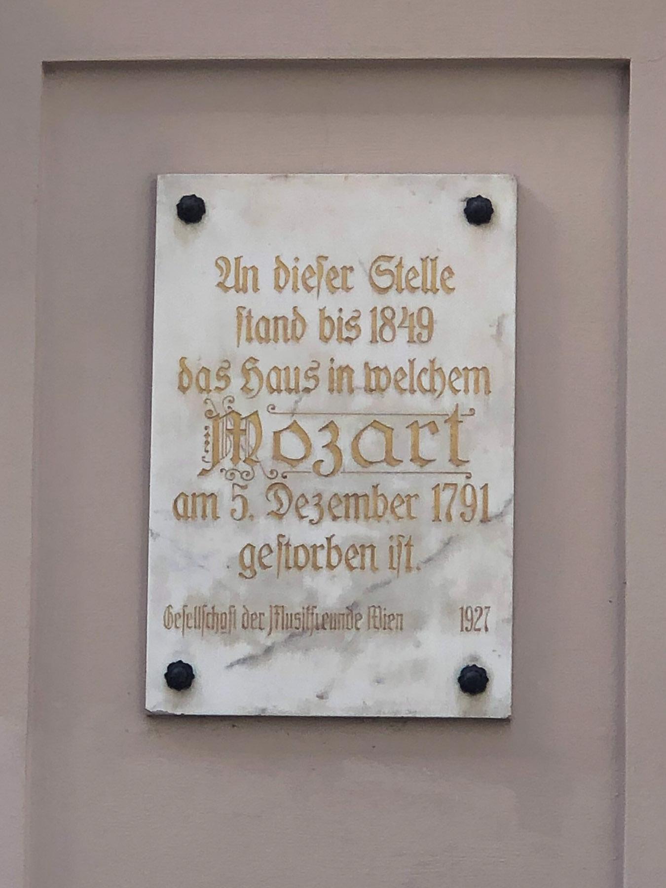 Mozart Sterbehaus, Vienna, Austria
