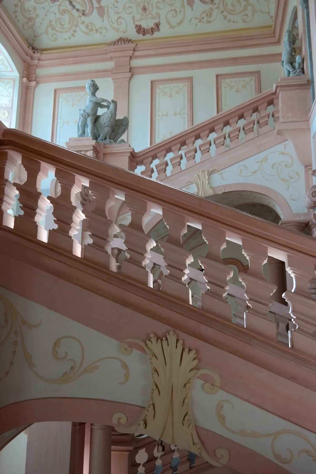 Pink Stairwell, Melk Abbey, Wachau Valley, Austria
