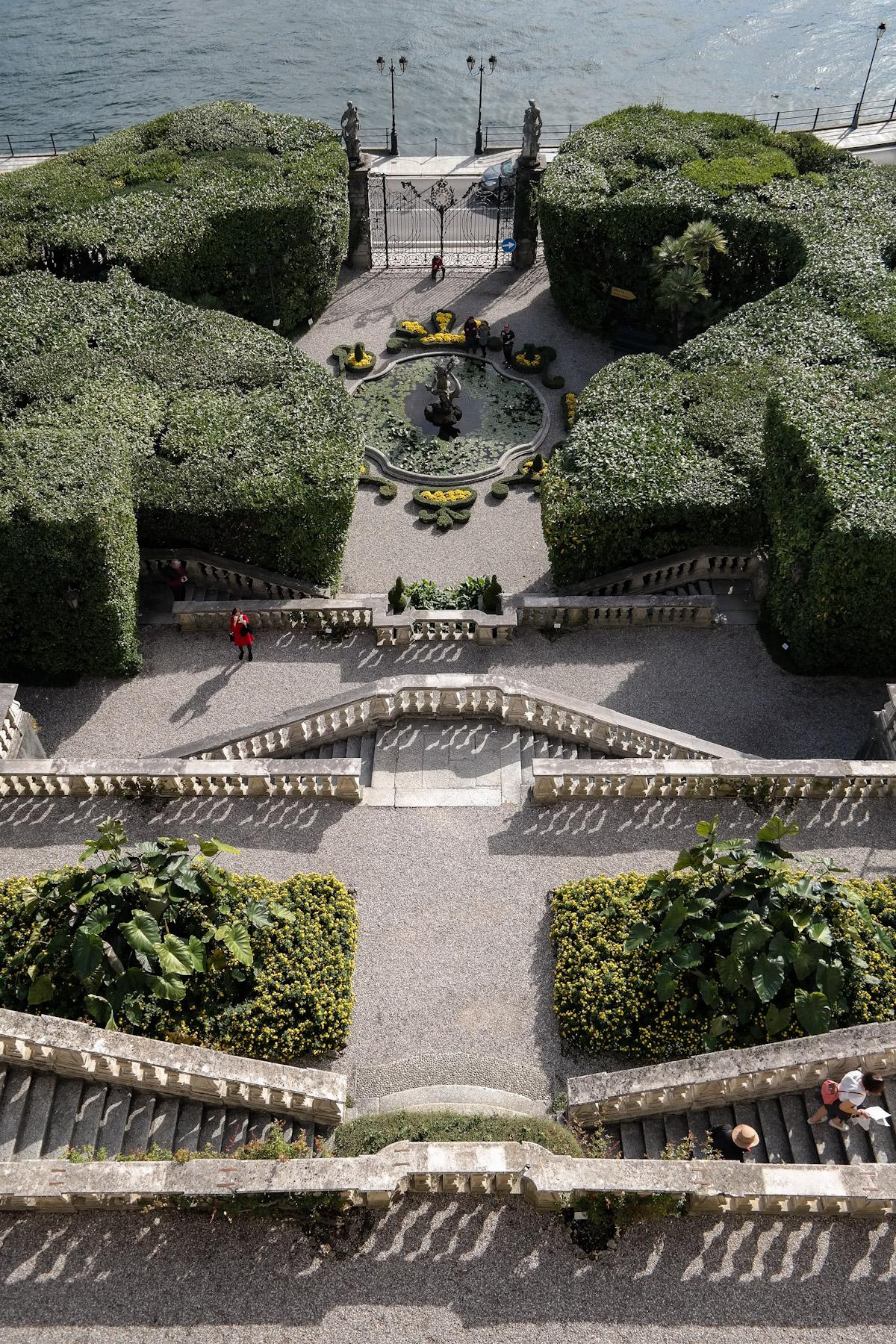 Aerial View of Italian Gardens at Villa Carlotta, Tremezzina, Italy