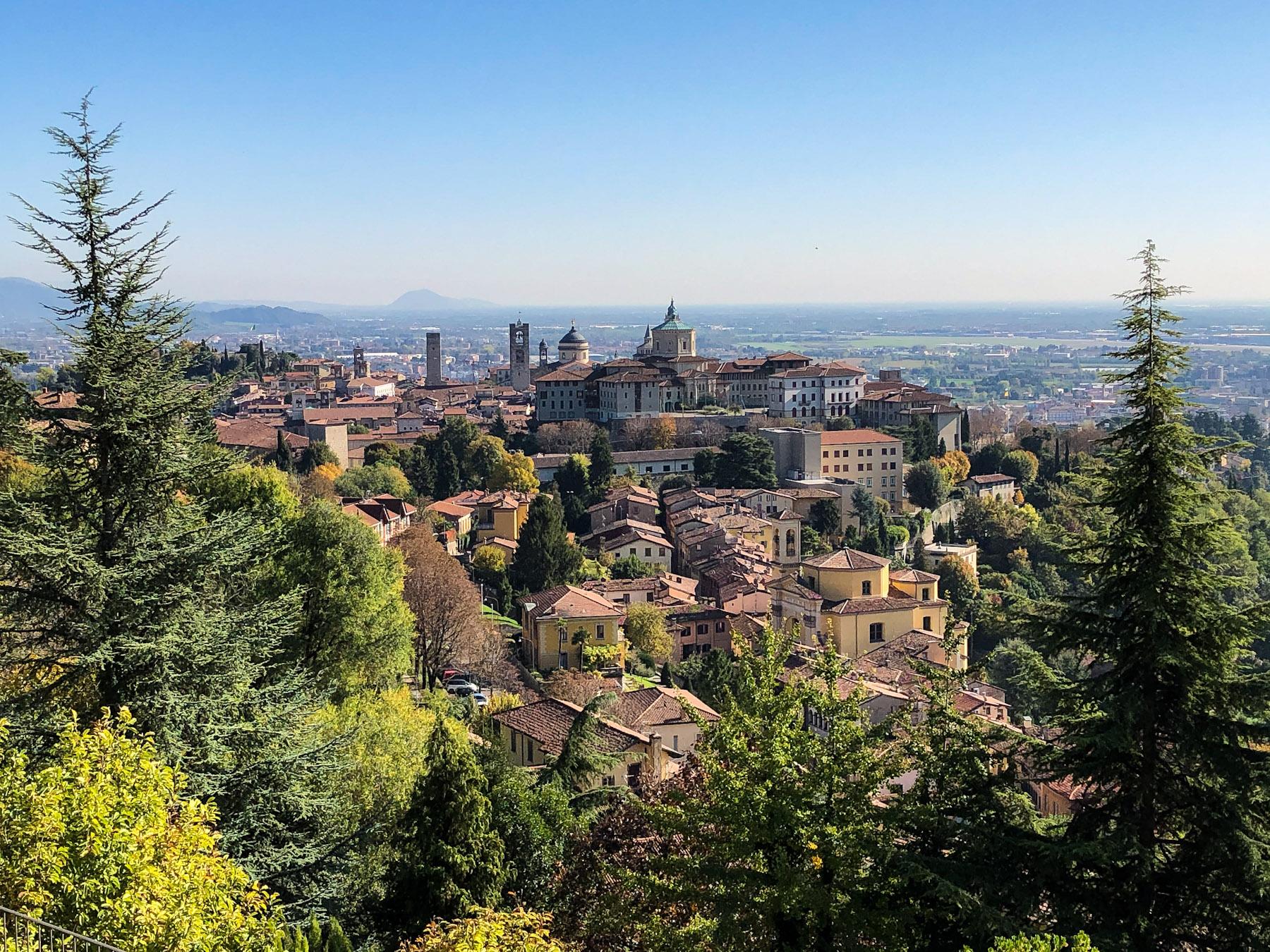 View of Citta Alta, Bergamo, Italy