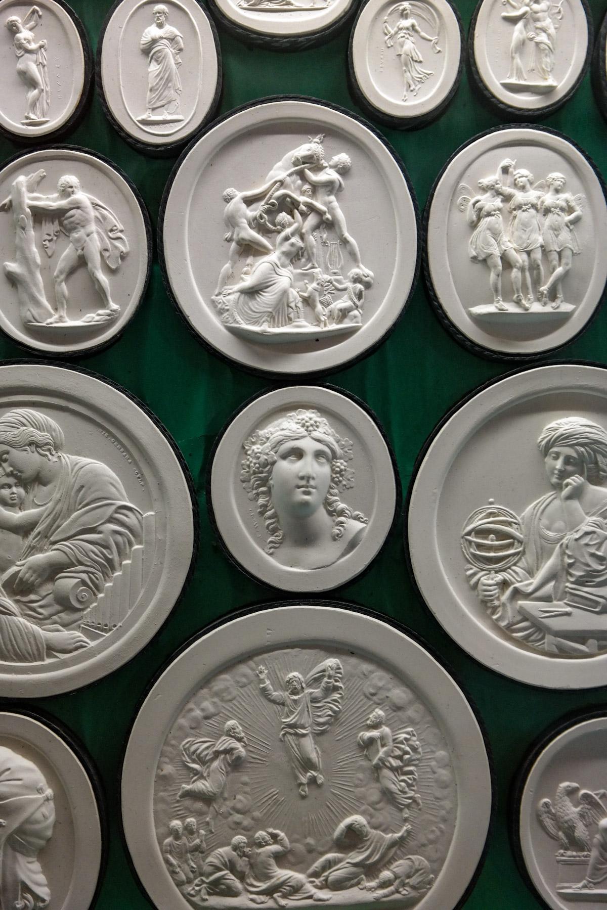 Plaster Cameos by Giovanni Liberotti, Villa Carlotta in Tremezzina, Italy
