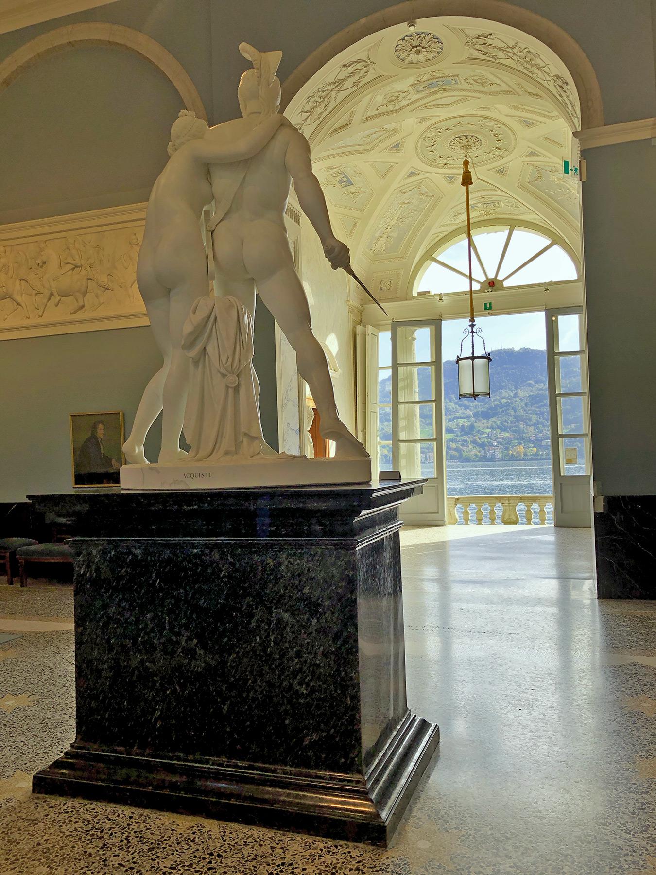 Venus and Mars by Luigi Acquisti, Villa Carlotta, Tremezzina, Italy