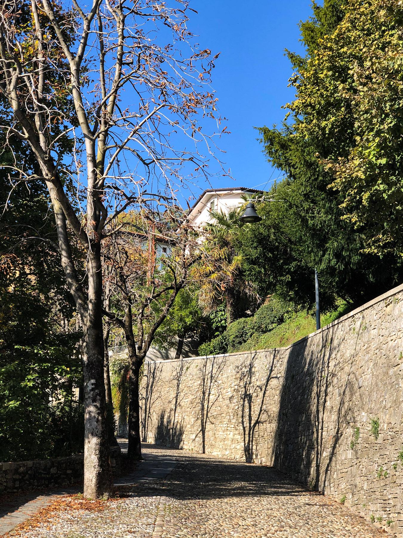 Via San Vigilio, Citta Alta, Bergamo, Italy