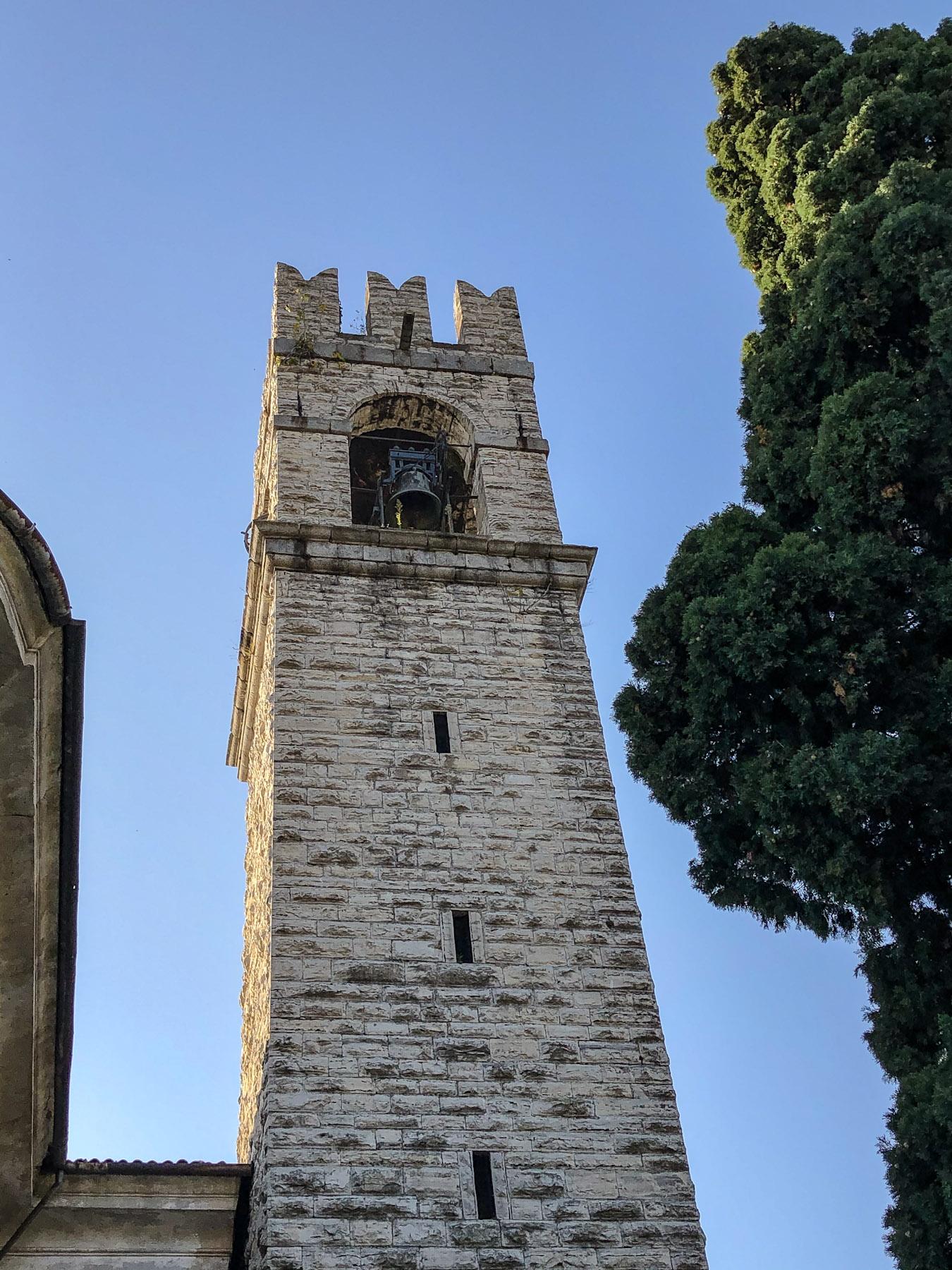Campanile of Chiesa dei Santi Faustino e Giovita, Siviano Monte Isola, Italy